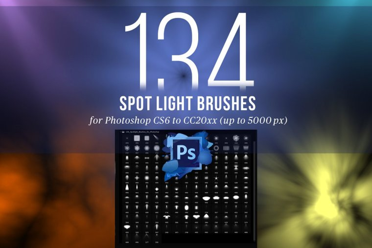 134 Spotlight Brushes for Photoshop
