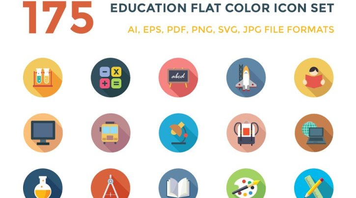 CreativeMarket 175 Education Vector Icons 123323