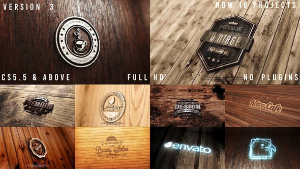 Photo Realistic Logo Mockup Pack 02: Wood Pack Version 3: Neon