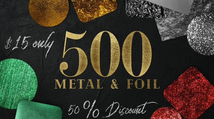 CreativeMarket Huge Gold foil Textures Bundle