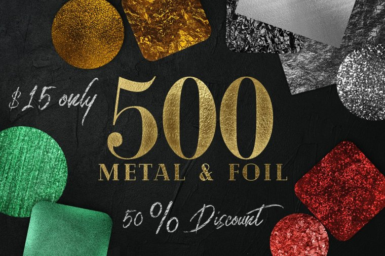 CreativeMarket Huge Gold foil Textures Bundle