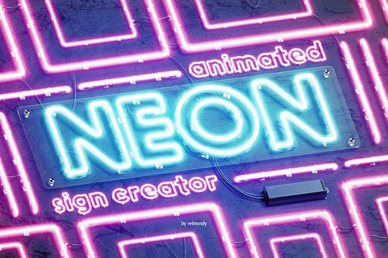 CreativeMarket Neon Animated Sign Creator