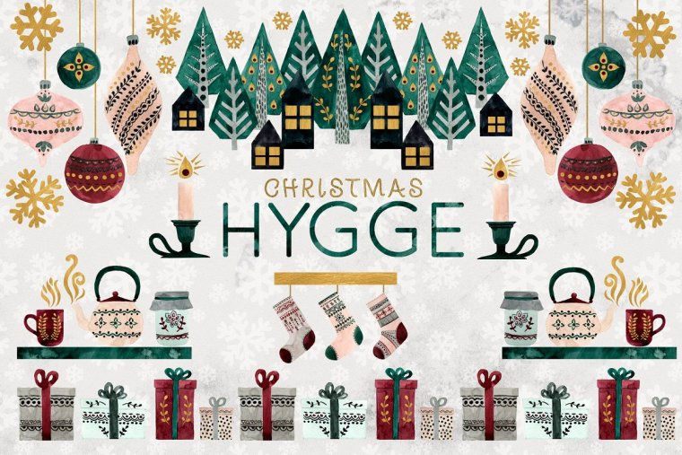 CreativeMarket Christmas HYGGE Collection
