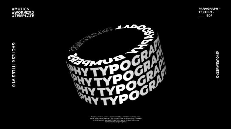 Grotesk Typography Titles for After Effects