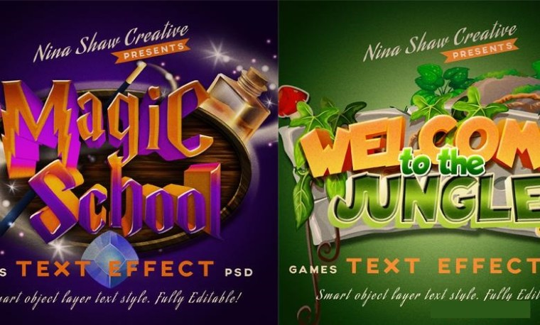 Games Text Effects For Photoshop