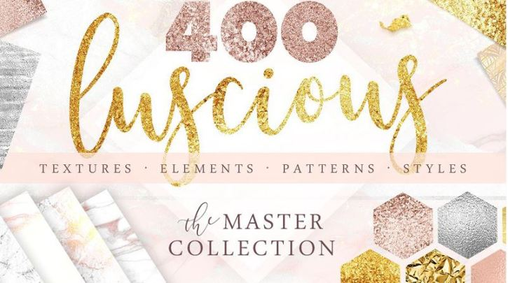 400 Gold & Marble Textures & More