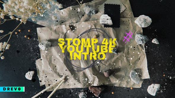 Stomp 4K Youtube Intro / Typography / Grunge / Hand Made Opener / Kitchen / Fast / Dynamic / Clap / Modern