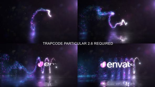 Glowing Particals Logo Reveal 33