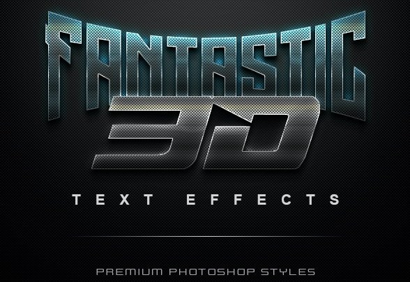 Graphicriver 3D Text Effects Bundle Two
