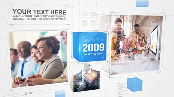 Corporate Cube Timeline