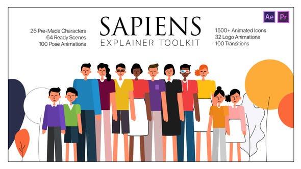Sapiens Explainer Toolkit AE & PR MOGRTs