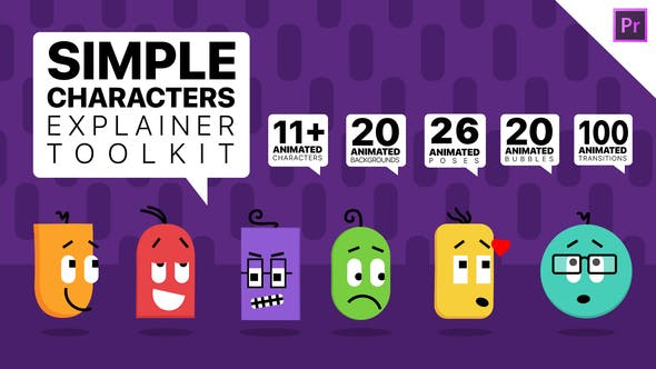 Simple Characters Explainer Toolkit | Essential Graphics