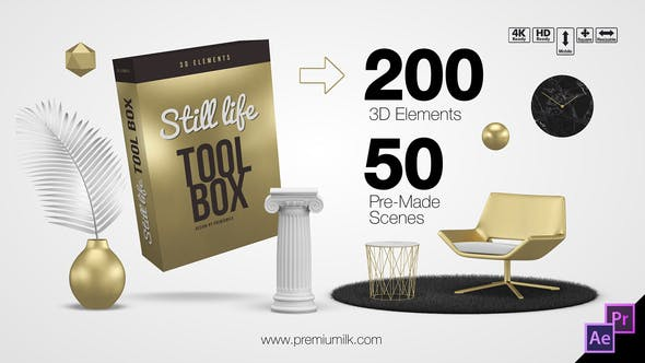 Still Life Toolbox AE & Premiere Pro Mogrts