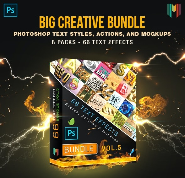 Graphicriver 66 Creative Text Effects Bundle 5