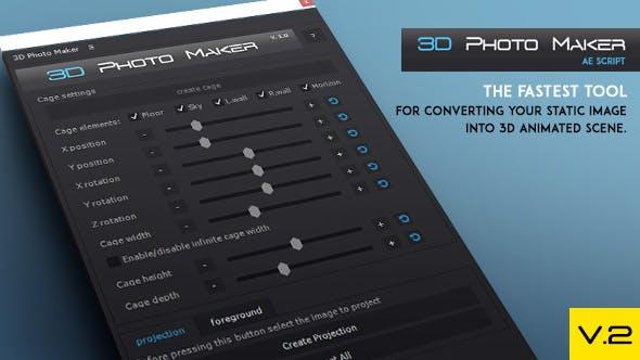 3D Photo Maker The Script
