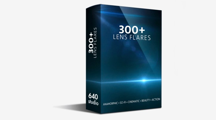 300+ Action Sci-fi Cinematic Anamorphic Lens Flares