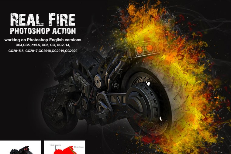 Download Real Fire Photoshop Action