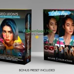 Geo Leon's Portrait Retouching Tutorial + Color Action pack Bundle with BONUS