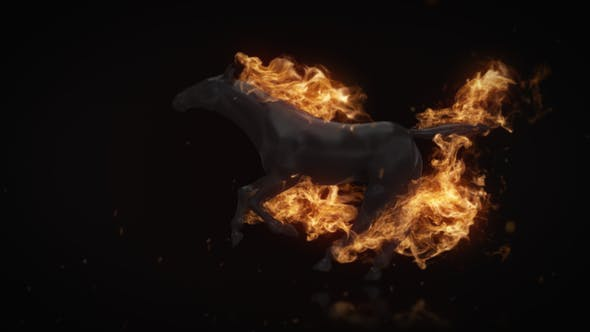 Flamming Horse Logo Reveal