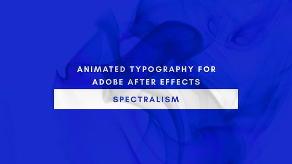Spectralism Animated Titles for After Effects