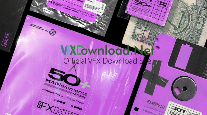 Vicmcmxciii - GFX KIT 50+ elements | +4 psd BONUS