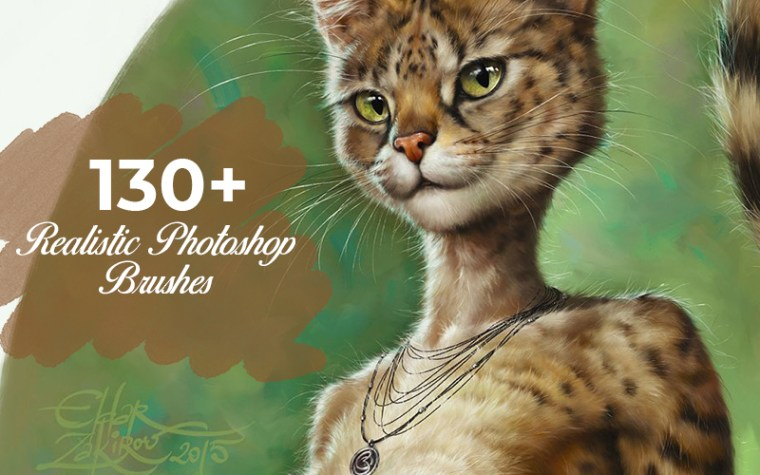 Inkydeals 130+ Realistic Photoshop Brushes