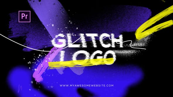 Glitch Grunge Distortion Logo Intro