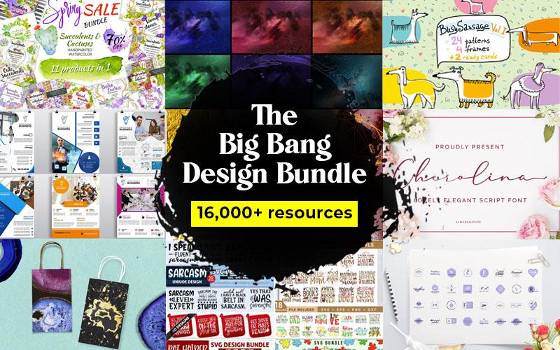 [VIP] inkydeals — The Big Bang Design Bundle (16000+ iTems)