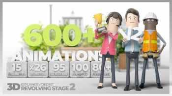 3D Explainer Video Kit Revolving Stage V2