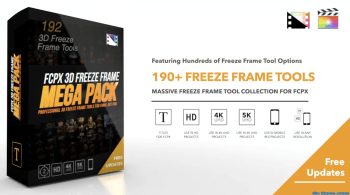Pixel Film Studios - FCPX 3D Freeze Frame Mega Pack