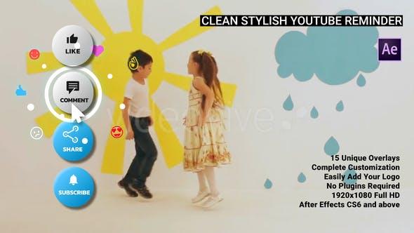 Clean Stylish YouTube Reminder - AE