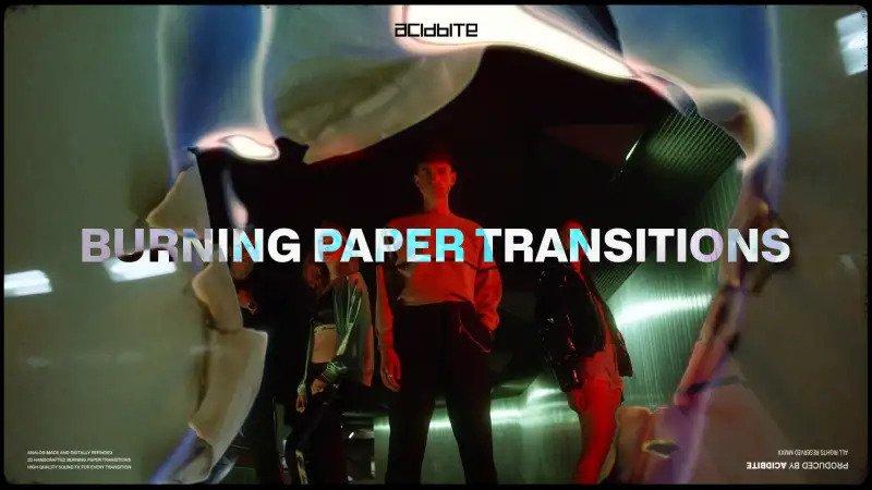 AcidBite - Burning Paper Transitions