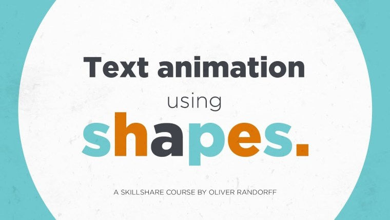 Text Animation Using Shapes in After Effects