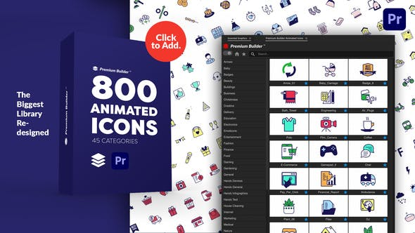 PremiumBuilder Animated Icons | Premiere Pro Extension 29634161