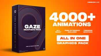 Gaze Graphics Pack 4000+ Animations V4.0