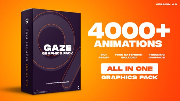 Gaze Graphics Pack 4000+ Animations V4.0