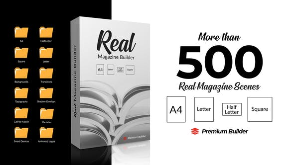 Videohive Real Magazine Builder for Element 3D 29703858