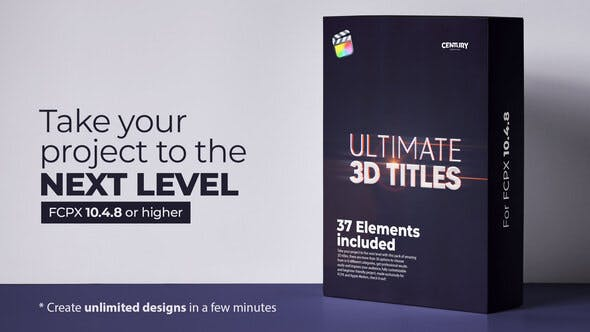 Ultimate 3D Titles for FCPX