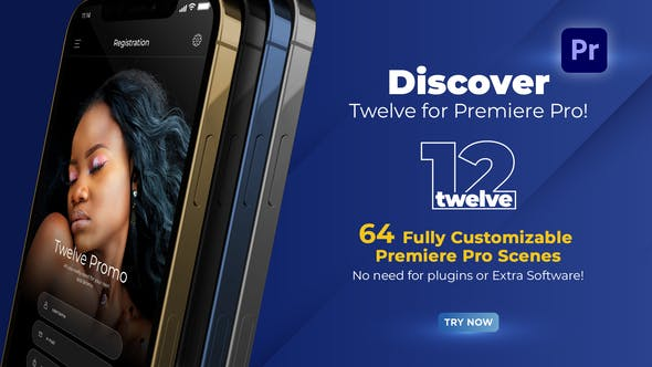 Twelve App Promo for Premiere Pro - MOGRT
