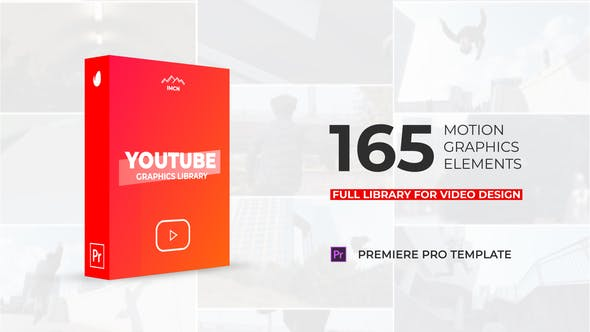 Videohive Youtube Motion Library | Essential Graphics | Mogrt 23478049