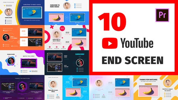 Videohive YouTube End Screens / Card 28147069