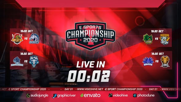 Videohive Esport Broadcast Package 30275809
