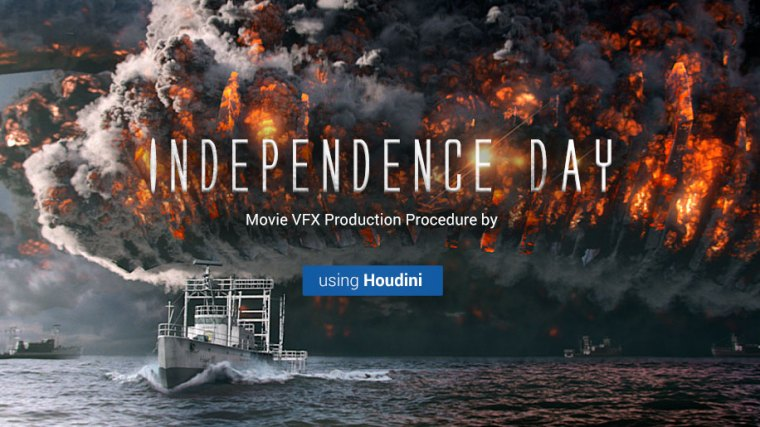 Wingfox - Independence Day - Production Procedure Of A Movie Vfx Scene Using Houdini