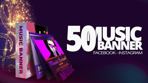 Videohive 50 Music Banners 30144271