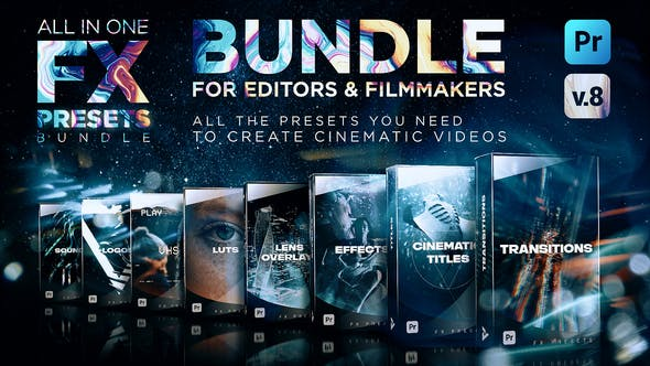 Videohive Montage Presets for Premiere Pro   Transitions, Titles, Effects, VHS, LUTs & More V8 24028073