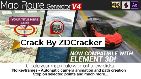 Videohive Map Route Generator V4 21686169 (Crk)