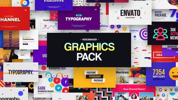 Videohive Videomaker Graphics Pack 32196607
