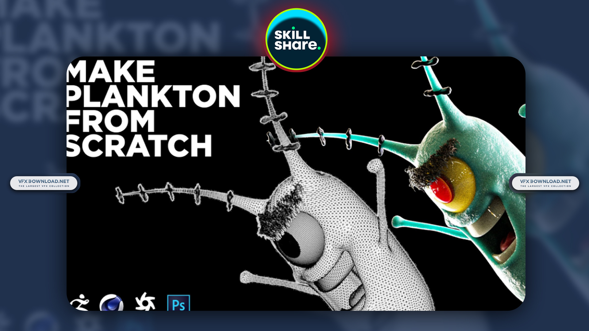 Create Plankton From Scratch Using Zbrush & Cinema 4D By Patrick Foley