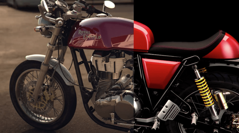 Still from CG composite for Royal Enfield