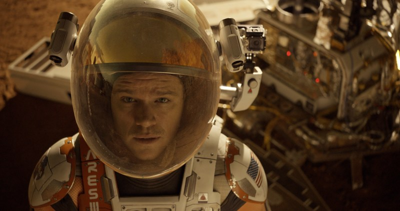 Sharp look of THE MARTIAN. (Courtesy Twentieth Century Fox)